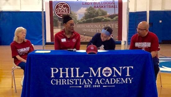 "<span style=""overflow: hidden; float: left; width: 360px;"">Phil-Mont senior Jael Jackson will continue her basketball career at South Carolina State.</span> <span id=""fa_link"" style=""float: left; text-align: center; width: 151px; height: 22px;""><a href=""/college-signings/content/phil-monts-jael-jackson-continue-basketball-career-south-carolina-state""><img src=""/profiles/s1s/themes/s1s_classic/images/main_fullarticle.gif"" style=""position:relative;""/></a></span>"